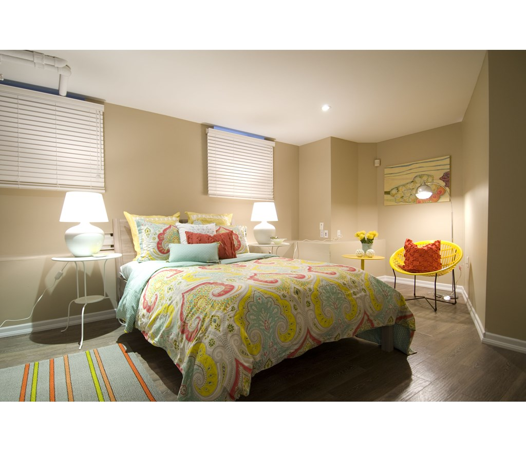 A Sunny Basement Bedroom