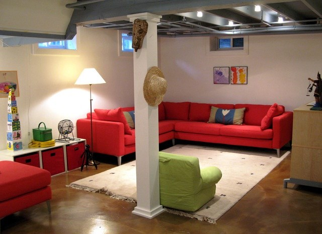 semi finished basement photos hgtv canada