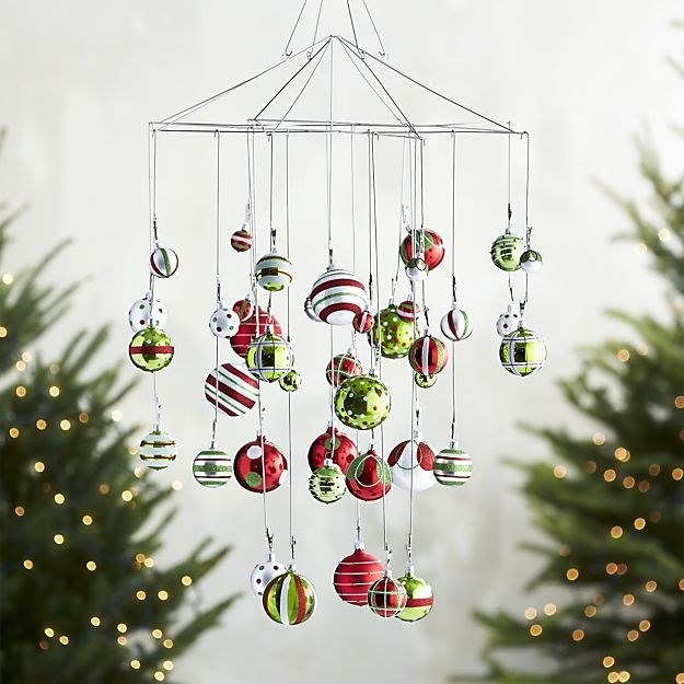 Crate barrel ornament photo chandelier photos hgtv for Hanging ornaments from chandelier