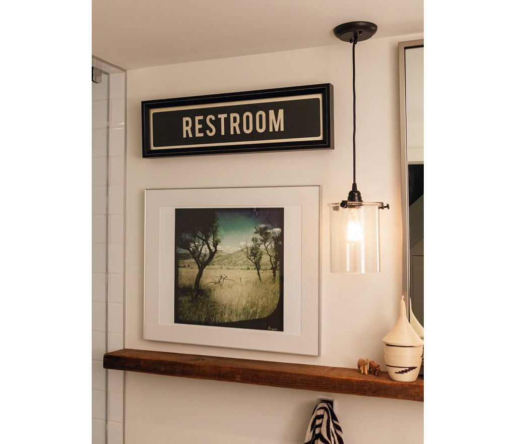 7 Basement Ideas On A Budget Chic Convenience For The Home: Creative Bathroom Artwork
