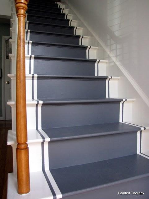 basement stair ideas paint
