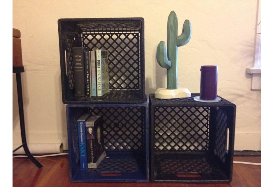 Cool Milk Crate Bookcase Crate Shelves Bedroom Milk Crate Shelf Crate