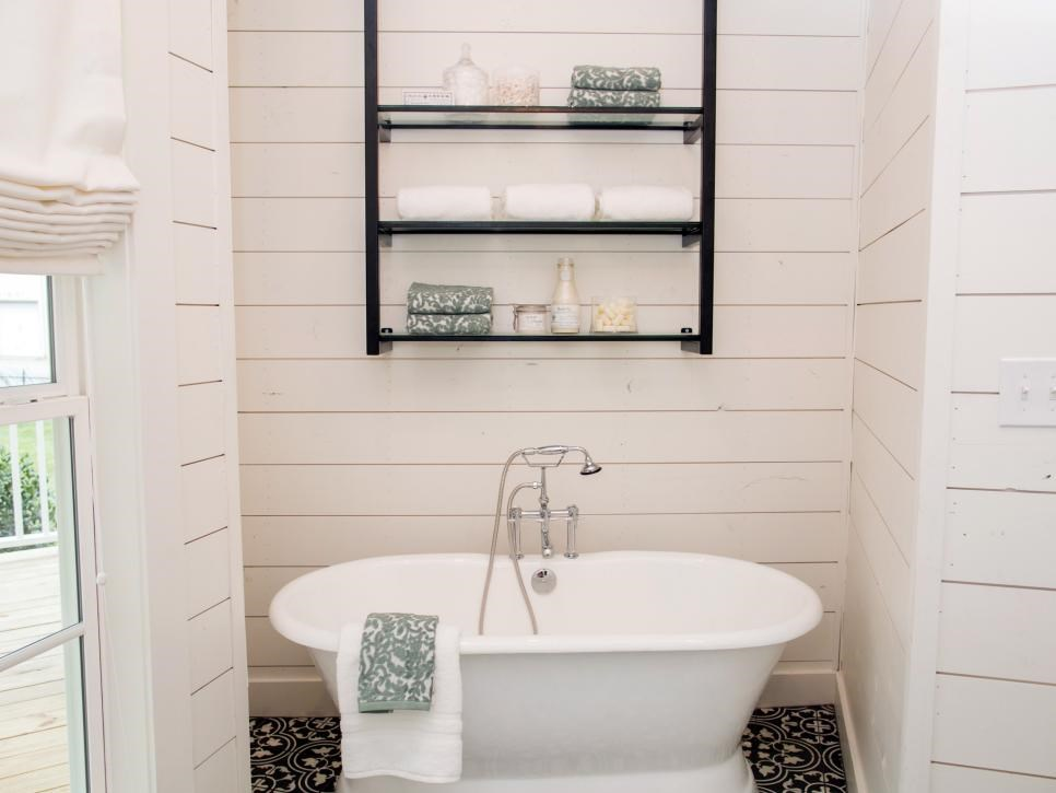 Tub And Gorgeous Floor Tiles Complete The Look