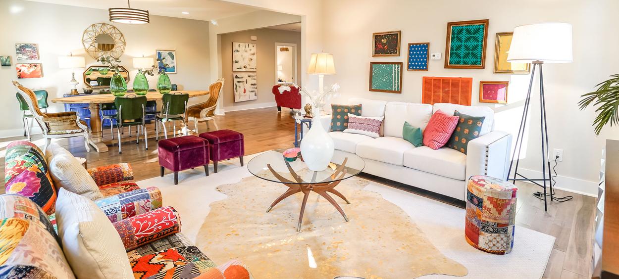 Bohemian Living Room Bright Pops