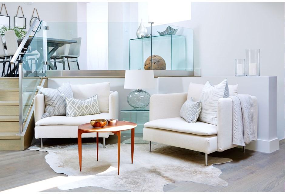 Sarah Richardson. A Sleek White Living Room Makeover Part 66
