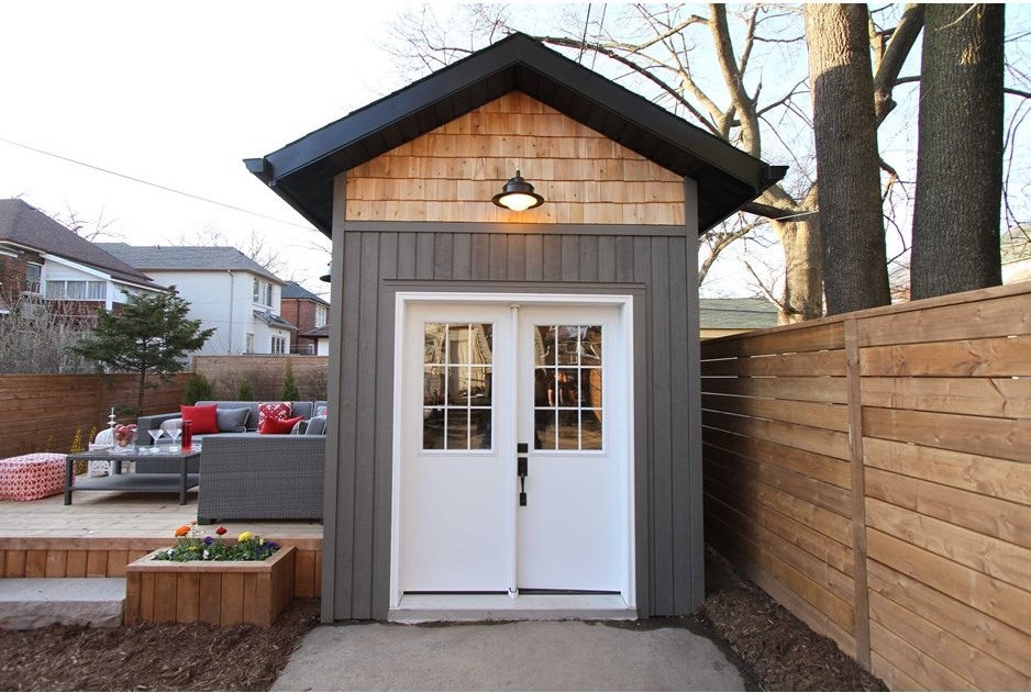 Backyard Makeover with Loft Shed