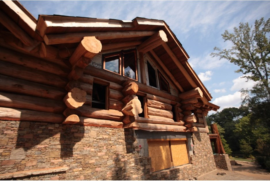 Exquisite square foot log home from timber kings