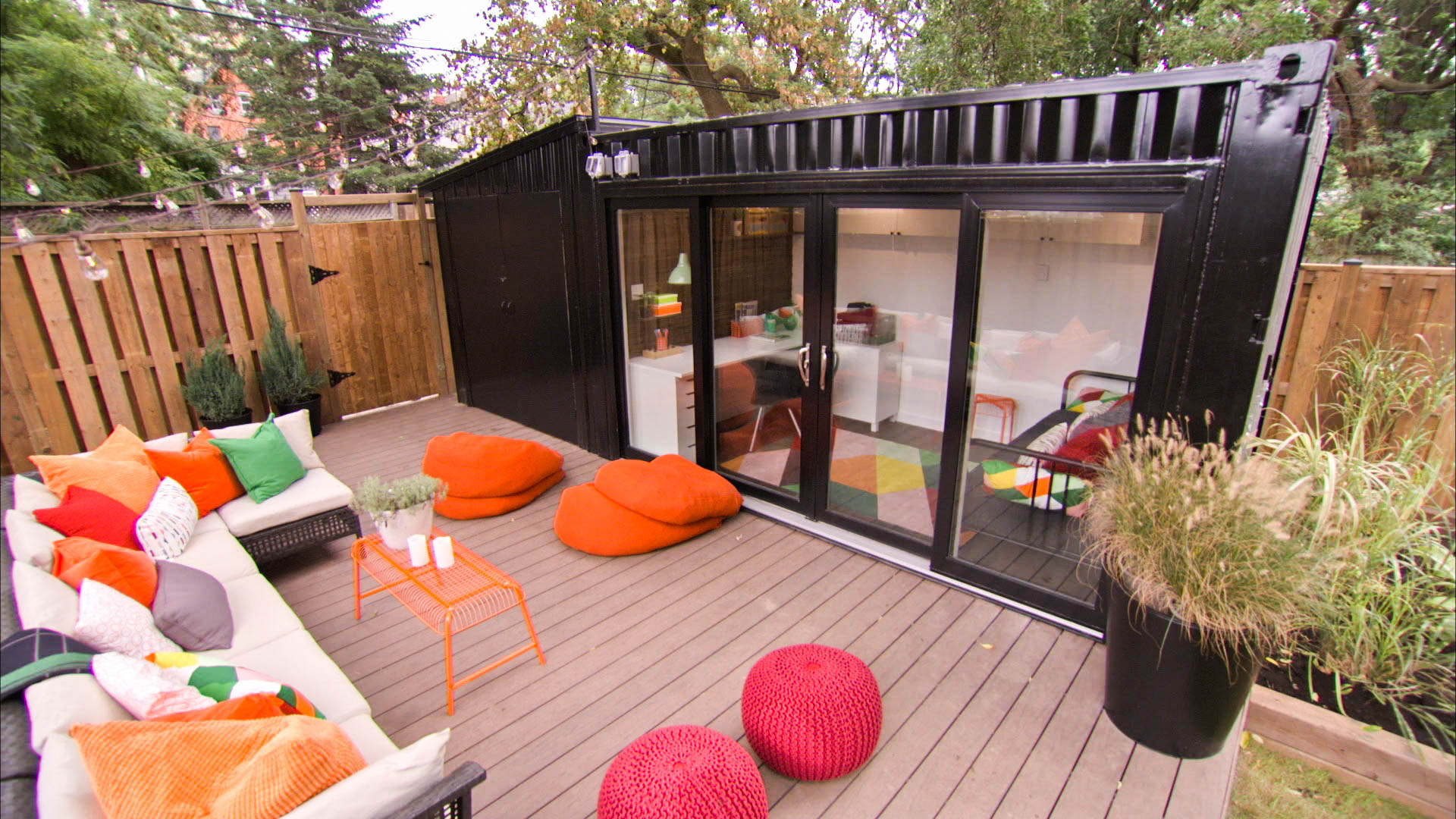 Living In A Shipping Container shipping container doubles living space in this busy canadian home