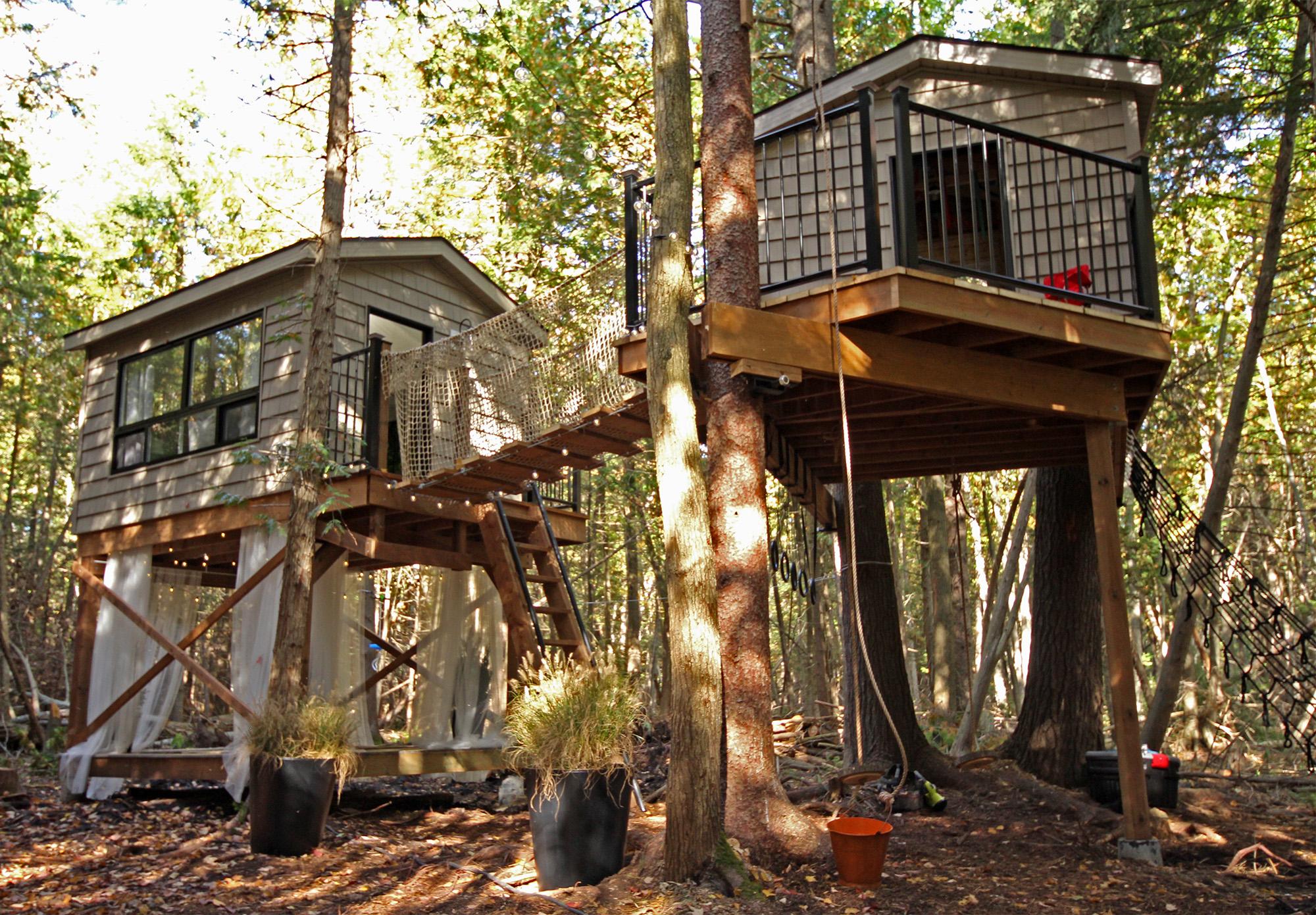 a treehouse village