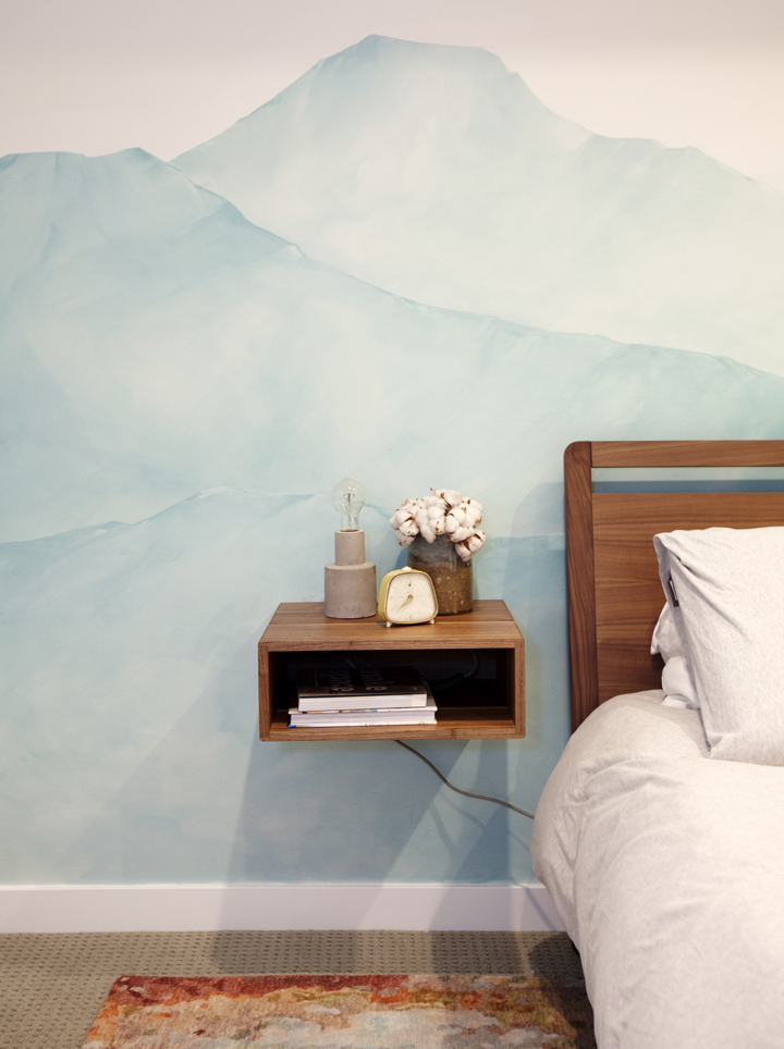 Bohemian bedroom design.