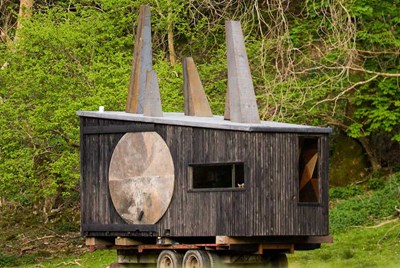 Animated Forest pop-up glamping cabin in Wales