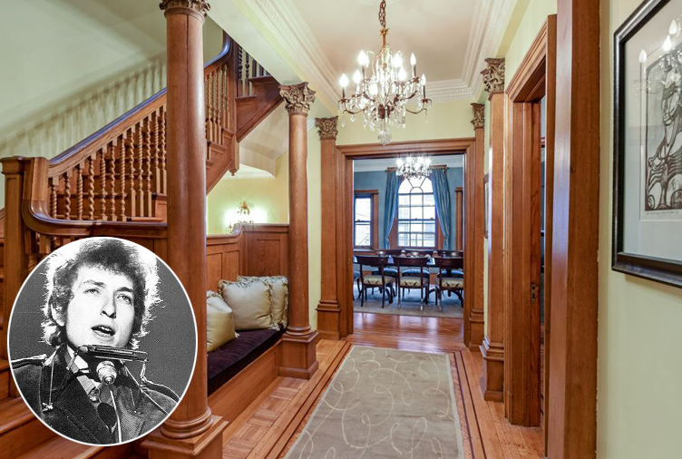 Bob dylan 39 s historic harlem townhouse hits the market for for Townhouses for sale in harlem