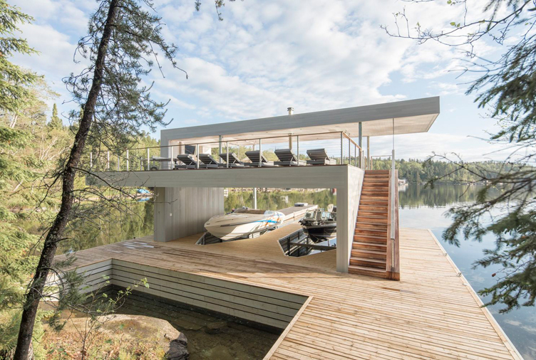 This Breathtaking Ontario Boathouse Reveals Unexpected Surprises