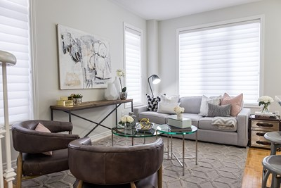 small modern and glam living room