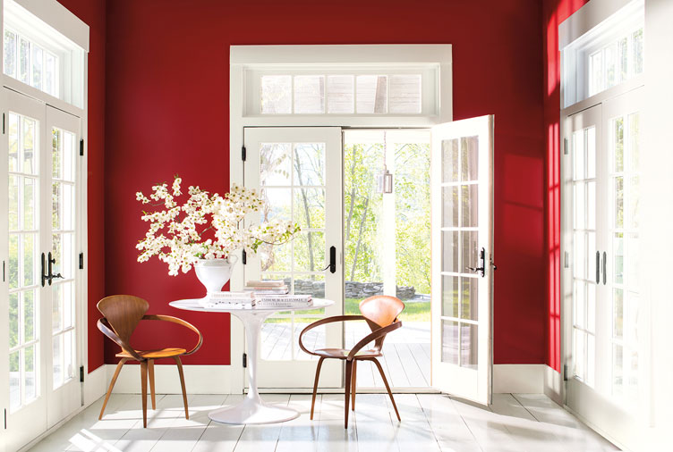 Benjamin Moore's 2018 Colour of the Year is Red Hot