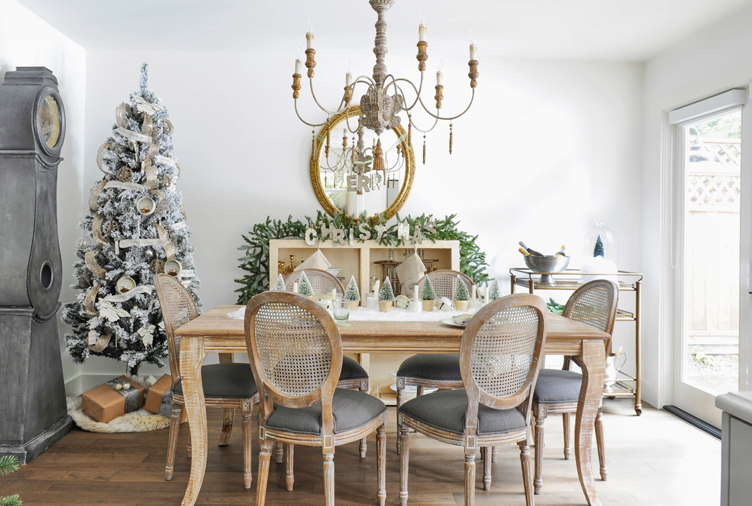 This BC Blogger's Vintage-Style Holiday Home is a DIYer's Dream