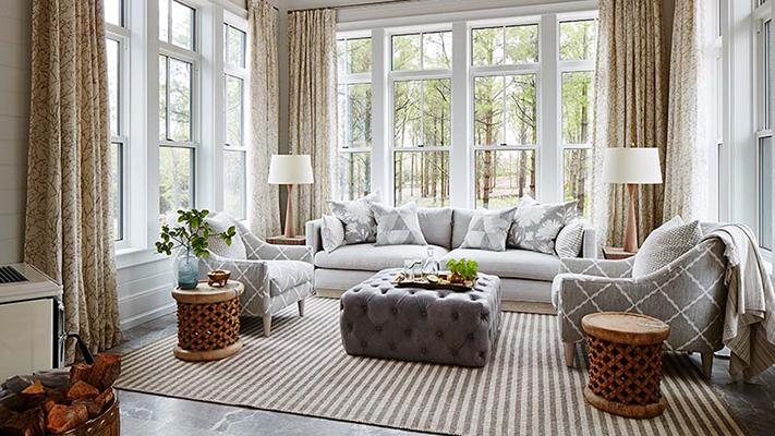 Image result for sarah richardson off the grid house sun room - Shop the Room! Sarah Richardson's Ontario Living Room #SarahRichardson #offthegrid