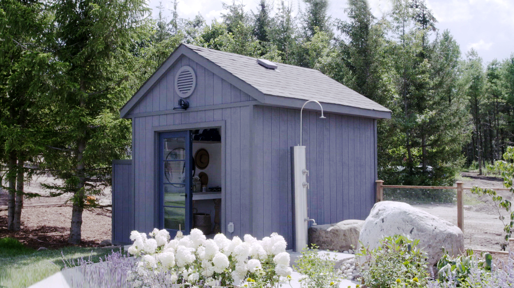 Sarah off the grid video upcycle an old shed into a pool for Shed into pool house