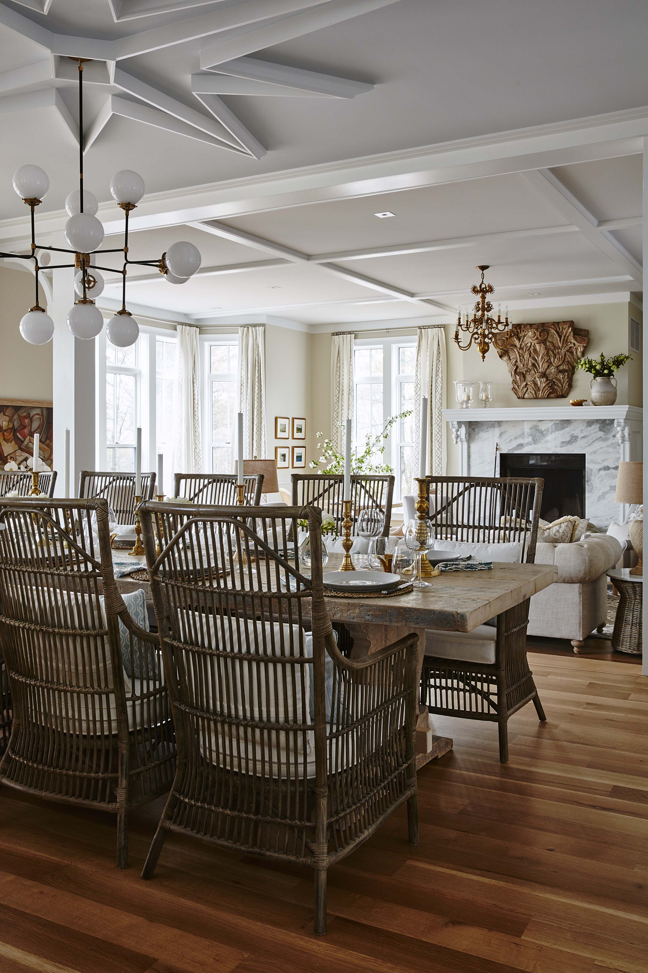 #SarahRichardson designed dining room with #moderncountry decor in her own home. Shop the Room! Sarah Richardson's Ontario Living Room